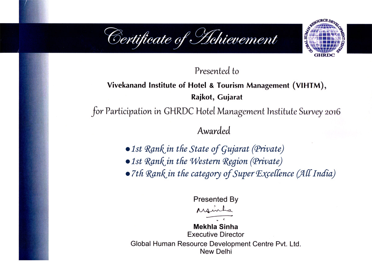 Vivekanand Institute Of Hotel Tourism Management